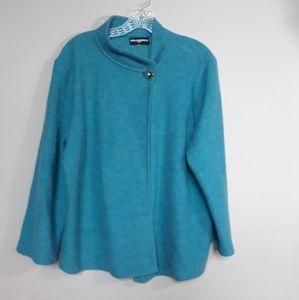 Karl Lagerfeld Paris | Cape Sweater Wool Teal XL